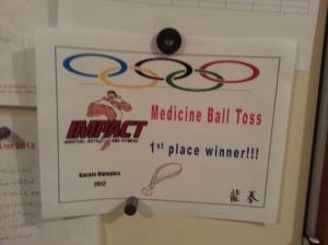 Olympics certificate