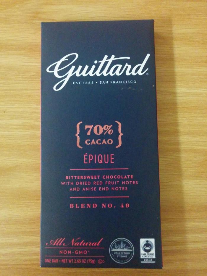 #Chocolate review: Guittard Épique 70%cacao