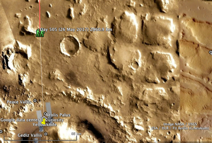 #MarsWalk Day 505, 2960.9 km