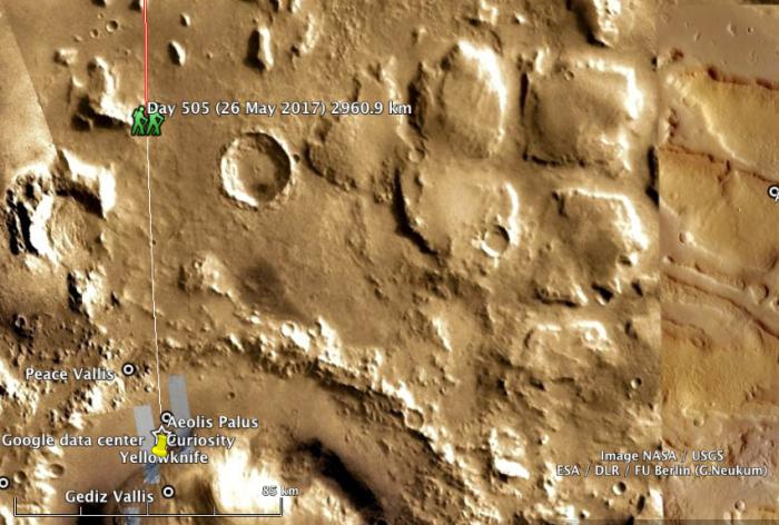 #MarsWalk Day 505, 2960.9km